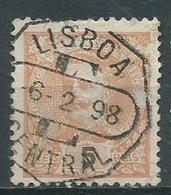Timbre Portugal 5 C Orange 1895-96 Yvt 126 Obliteration Lisboa - 1862-1884 : D.Luiz I