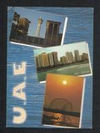 United Arab Emirates Dubai Abu Dhabi 3 Scene Picture Postcard U A E View Card - Dubai