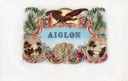 96Hs  Grande étiquette (25cm X 16cm) De Cigares Aiglon Gaufrée Et Dorée - Etiquettes