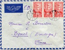 A. E. F. LETTRE PAR AVION DEPART FADA 29 FEV 40 A.E.F. POUR LA FRANCE - Lettres & Documents