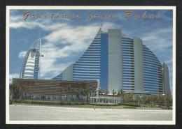 United Arab Emirates Dubai Burj Al Arab & Jumeirah Beach Hotel Picture Postcard U A E View Card - Dubai