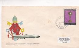 1968 COLOMBIA SPECIAL COVER-CONMEMORACION VUELO DE SS PABLO VI A BOGOTA- BLEUP - Papes