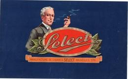 96Hs  Lot De 3 Grandes étiquettes (25cm X 16cm) De Cigares Select - Etichette