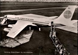 !  1964 Postcard From Hamburg Fuhlsbüttel, PanAm, Pan Anerican, Düsenjet, Jetliner, Boeing 707 - 1946-....: Moderne