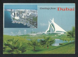 United Arab Emirates Dubai 2 Scene Creek Golf & Yacht Club Picture Postcard View Card U A E - Dubai