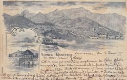 Carte Postale - Postkarte. Vernex - Montreux (  Ein Mal Mittig Leicht Gebogen ) - VD Vaud