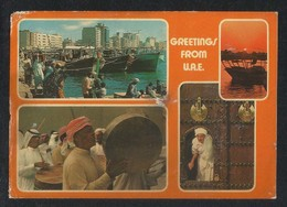 United Arab Emirates 4 Scene Picture Postcard U A E View Card - Dubai