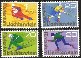 V) 1976 LIECHTENSTEIN, 12TH WINTER OLYMPIC GAME INNSBRUCK, AUSTRIA, SET OF 4, MNH - Unused Stamps