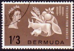 BERMUDA 1963 SG 180 1sh 3d Used Freedom From Hunger - Bermuda