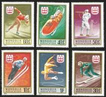 V)  1975 MONGOLIA, 12TH WINTER OLYMPIC GAME INNSBRUCK, AUSTRIA, SET OF 6, MNH - Mongolia