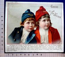 CHROMO.... CHOCOLAT VAN HOUTEN..   ......GRAND FORMAT....ENFANTS BONNETS DE MARIN - Van Houten