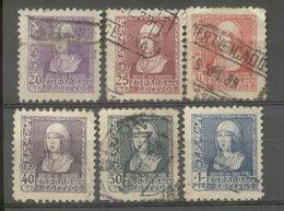 ESPAÑA -  YVERT 658/63 (#2064) - 1951-60 Usados