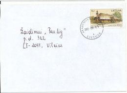 Lithuania Cover Akademija Ke---- 5-3-2002 Single Franked - Lithuania