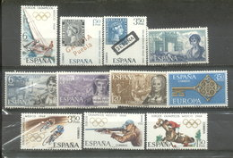ESPAÑA -  YVERT 1517/23  -  1545/48 (#2071) - 1961-70 Usados
