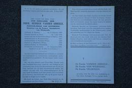 Doodsprentje Pastoor Omer Herman Vanden Abbeele. °Berlare, +Oosterzele. Deinze, Waasmunster, Beveren-Waas, Moerbeke-Waas - Obituary Notices