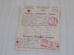 TELEGRAMME CROIX-ROUGE GENEVE 1944, De BÔNE ALGERIE à FAINS-LES-SOURCES Meuse. Meilleurs Voeux - Vieux Papiers