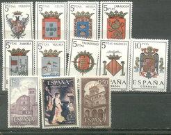 ESPAÑA -  YVERT 1358/63  -  1390/92  -  1554/56 (#2073) - 1961-70 Usados