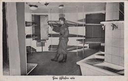 DER WESTWALL - LUFTVERTEIDIGUNGSZONE WEST, MANNSCHAFTSRAUM, Fotokarte Als Feldpost Gel.1940, Transportspuren - Weltkrieg 1939-45