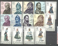 ESPAÑA -  YVERT 1224/29  -  1338/45 (#2076) - 1961-70 Usados