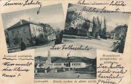 ESZTERGOM (Ungarn) - Mehrbilderkarte Gel.1908?, 2 Fach Frankiert - Ungarn