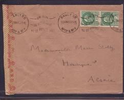 Lettre  De Nancy 12.07.1943 Aff Pétain Pour Hésingue Haut Rhin -  Zensur/Censored/ Censure De Francfort/m. - Guerre De 1939-45