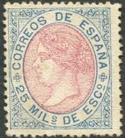 Edifil 95(*) Nuevo, 25 Milésimas De Escudo De 1867 - Nuevos