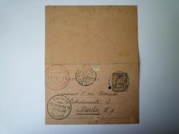 2019 - 1872  ENTIER POSTAL  Au Départ De PARIS à Destination De  BERLIN   1892   XXX - Unclassified