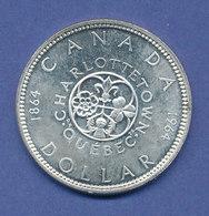 Kanada Silbermünze 1 Dollar 1964 Konferenz Charlottestown  23,2g 800er Silber - Canada