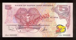 Papua New Guinea 2000 5 Kina Specimen Silver Jubilee AUNC-UNC - Papua Nuova Guinea