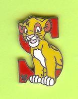 Pin's BD Disney Lettre S Simba (Le Roi Lion) - 9Y19 - Disney