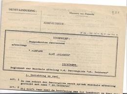 DI/1/  BUGGENHOUT    REGLEMENT 1929 FANFARE ST ISIDORUS + NAMEN V. SCHENKERS - Religion & Esotérisme