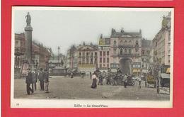 LILLE LA GRAND PLACE CARTE COLORISEE EN TRES BON ETAT - Lille