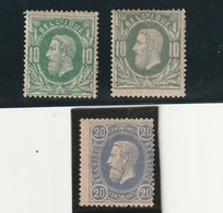 COB N°30 Et 31 * - 1869-1883 Léopold II