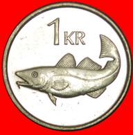 + GREAT BRITAIN FISH (1989-2011): ICELAND ★ 1 KRONE 1996 MINT LUSTER! LOW START ★ NO RESERVE! - Islandia