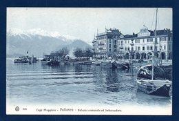 Lago Maggiore. Pallanza (Verbania). Palazzo Comunale. Hotel-Pension Belle Vue. Imbarcadero. Vaporetto - Verbania