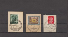 D-Reich Briefstück Gestempelt 1939 Mi. Nr. 662 º - 1943 Mi. Nr. 826 - 827 º - Deutschland