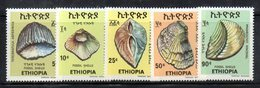 ETP208A - ETIOPIA 1977 ,  Yvert  N. 849/853 *** MNH CONCHIGLIE - Ethiopie