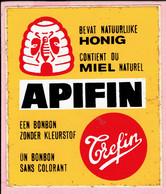 Sticker - APIFIN Een Bonbon Zonder Kleurstof - Bevat Natuurlijke Honing - Trefin - Autocollants