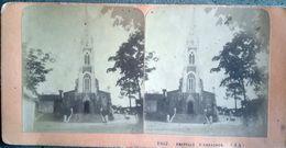 Photo Stéréo ARCACHON 33 Chapelle D' Arcachon  - XIXe - J.A.n° 1957 - Stereoscoop