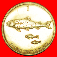 + FISH: SLOVENIA ★ 1 TOLAR 1996! LOW START ★ NO RESERVE! - Slovenia
