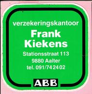 Sticker - ABB - Verzekeringskantoor Frank Kiekens - Stationsstraat Aalter - Autocollants