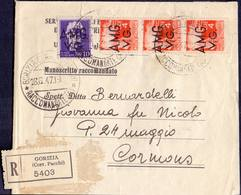 AMG  VG - GORIZIA  To CORMONS - OFFICEDOCUMENTO DI AGRICOLTURA - 28. 8. 1947. - Marcofilie