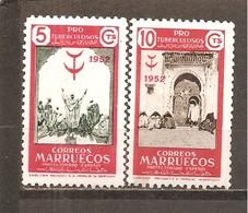 Marruecos Español - Edifil 361-62 - Yvert 435-36 (MH/*) - Marruecos Español