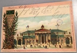MÜNCHEN MASCHINEN AUSSTELLUNG 1898 Sonderstempel Bayern 5 Pf PP Privat-Ganzsache(technology Technologie Industrielle - Bayern (Baviera)