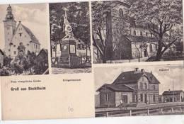 CPA :   Bechtheim (Allemagne Rhénanie)  Multivues Kirche Evan Kat,  Bahnhof , Krieger ..    Ed Altherr - Allemagne