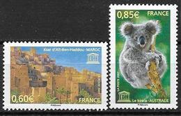 France 2007 Service N° 138/139 Neufs UNESCO à La Faciale - Neufs