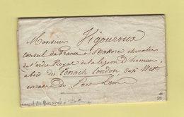 Ile Maurice Lettre Du Consulat Pour Accueillir Le Consul De France A Bassorah (Alexandre Vigouroux) Rade Port Louis 1824 - Marcophilie (Lettres)