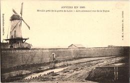 1 Postkaart Lillo Fort Antwerpen In 1860 Molen Bij Lillo Poort Huidige Dijkstraat Uitg.Hermans - Antwerpen