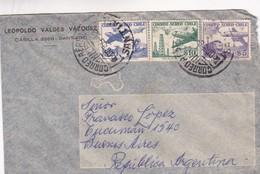 1942 CHILE AIRMAIL-LEOPOLDO VALDEZ VAZQUEZ. CIRCULEE TO ARGENTINE, MIXED STAMPS- BLEUP - Chili