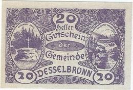 Austria (NOTGELD) 20 Heller 28-4-1920 Desselbrunn KON 119 A.2 UNC - Austria